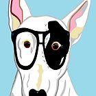 Hipster Bull Terrier by EloiseArt