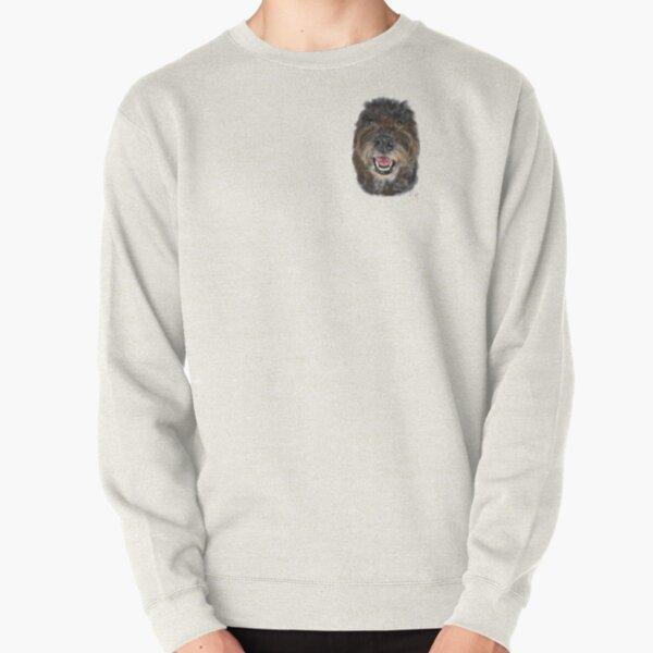 Happy Brown Fluffy Doodle Dog  Pullover Sweatshirt