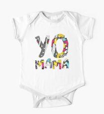 Yo Mama Tshirt. Funny 1990s Throwback Hip Hop Party T-Shirt One Piece - Short Sleeve