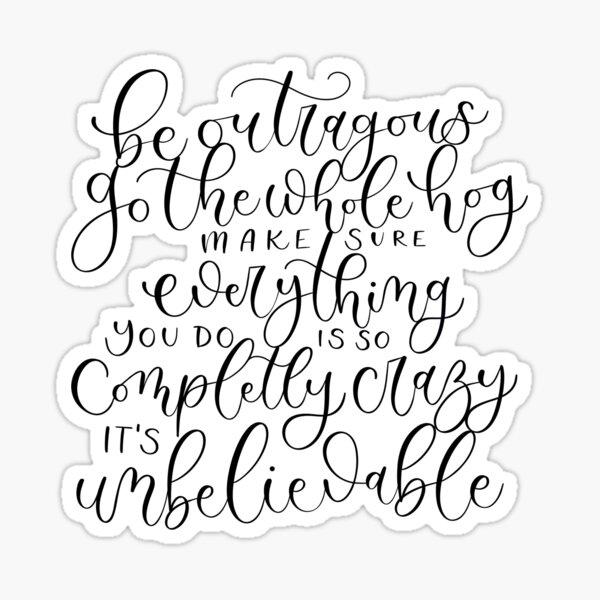 Roald Dahl Quote from Matilda Sticker