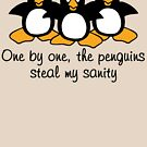 One by One The Penguins  by ironydesigns