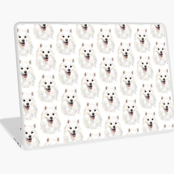 Happy Smiling American Eskimo Dog  Laptop Skin