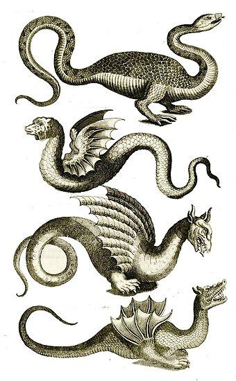 Ye olde Sea Serpents by Vintage Designs