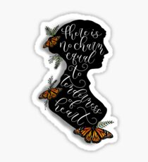Jane Austen Literary Quote Sticker