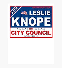 Vote Leslie Knope 2012 Photographic Print
