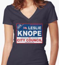 Vote Leslie Knope 2012 Women's Fitted V-Neck T-Shirt
