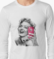 Selfie Marilyn Long Sleeve T-Shirt