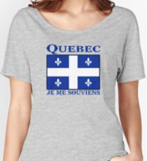 quebec  canada je me souviens  montreal T-shirts coupe relax