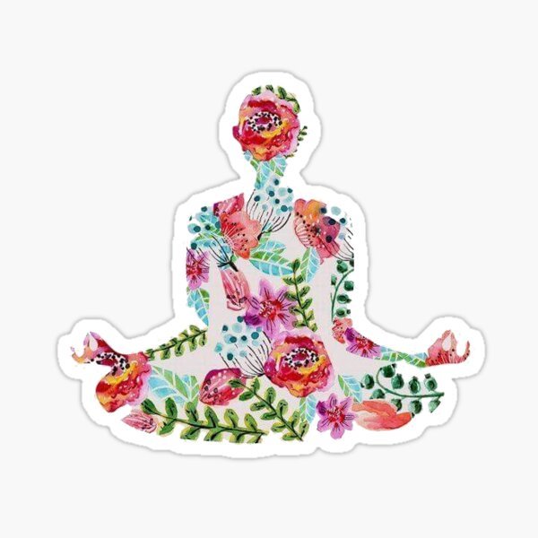 flower yogi Sticker