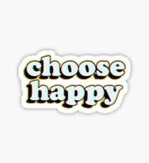 wähle glücklich Sticker