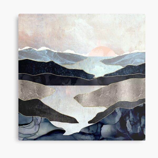 Blue Mountain Lake Metal Print