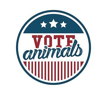 Vote Animals - Funny Animal Rights by RaveRebel