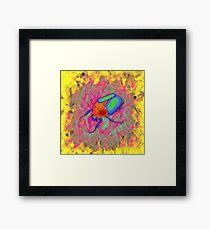 Protaetia cuprea ignicollis - Flower Beetle Framed Print
