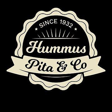 Hummus Pita Co Logo - Vintage Vegan Food Logo by RaveRebel