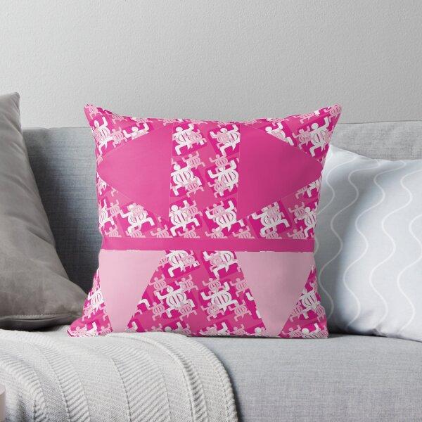 Adinkra_denkyem_pink Throw Pillow