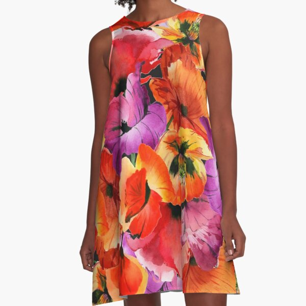 Poppies for Fun A-Line Dress