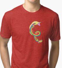 Twirl me Lady Rainicorn Tri-blend T-Shirt