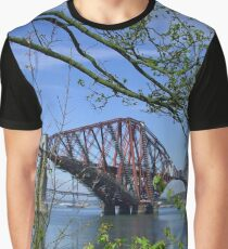 The Forth Rail Bridge Graphic T-Shirt