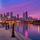 City Dreams - Chicago Skyline And City Lights as Night Falls by Mark Tisdale