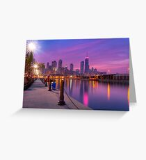 City Dreams - Chicago Skyline And City Lights as Night Falls Greeting Card