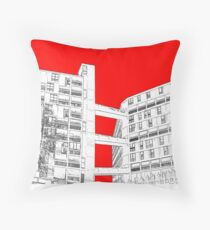Park Hill Red Throw Pillow
