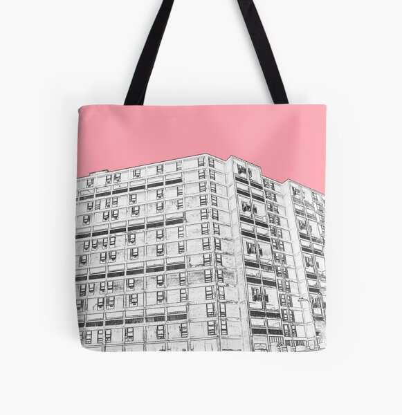Park Hill Sheffield Pink All Over Print Tote Bag