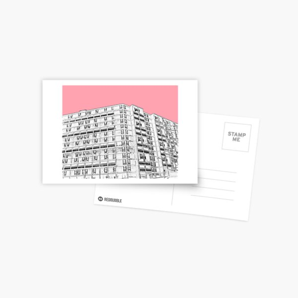 Park Hill Sheffield Pink Postcard