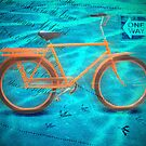 Orange Bicycle by Baye Hunter