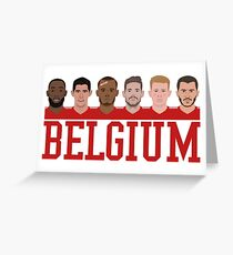 Belgium Team Greeting Card