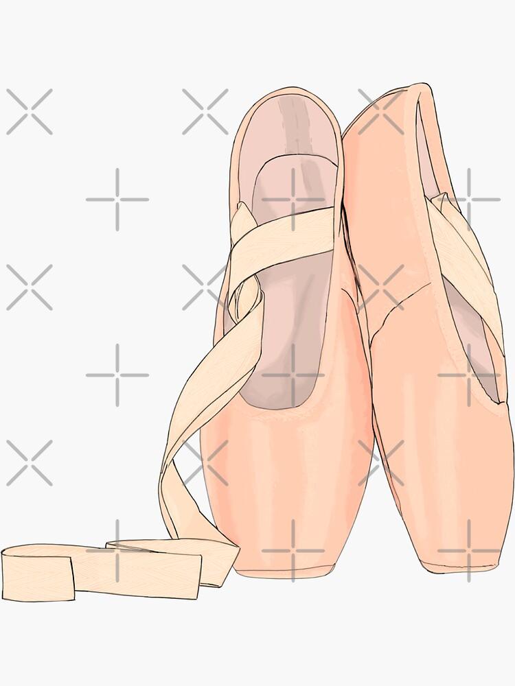 Pointe zapatos melocotón para bailarina linda de MimieTrouvetou