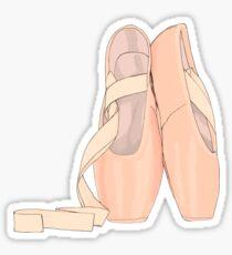Pegatina Pointe zapatos melocotón para bailarina linda
