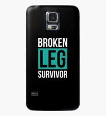 Broken Leg Survivor Broken Leg Gift Get Well Soon T-Shirt Case/Skin for Samsung Galaxy