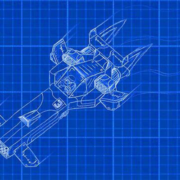 Raceship (blueprint) Wipeout by CamrosX