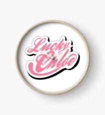Lucky Chloe Logo Clock