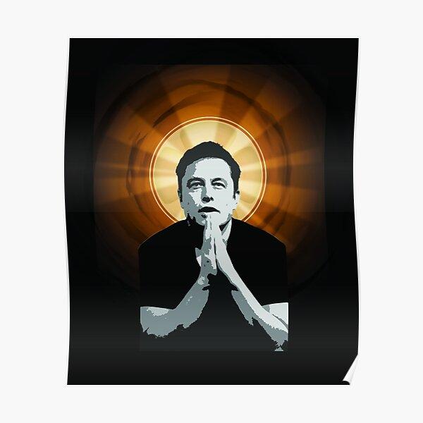 En Elon Musk We Trust Póster