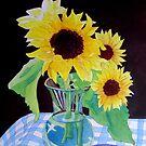 Sunflowers in a Vase by Teresa Boston