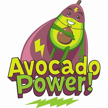 Avocado Power Avocado Emoji by joypixels