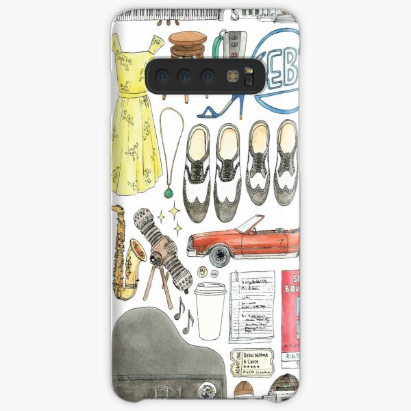 La La Land Illustration Jazz Saxophone Music Musical  Samsung Galaxy Snap Case