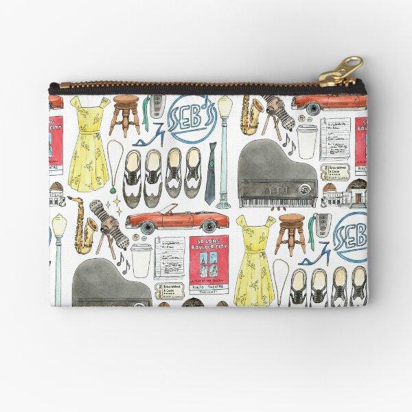 La La Land Illustration Jazz Saxophone Music Musical  Zipper Pouch