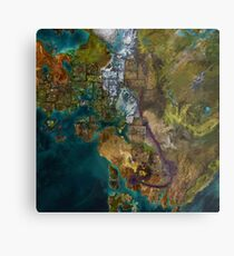 Guild Wars 2 Map Metal Print