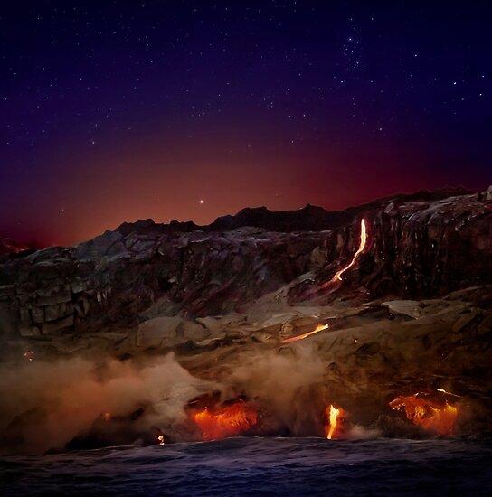 Kilauea Vulkan Lavafluss. 6 von Alex Preiss