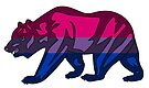 Bisexual Pride Bear by Sun Dog Montana