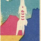 Travel to Distant Planets - Historic Soviet Space art on a Matchbox by dru1138