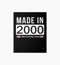 Made In 2000 Limited Edition Legend - Birthday Gift For D.O.B  2000 Born In  2000 Art Board