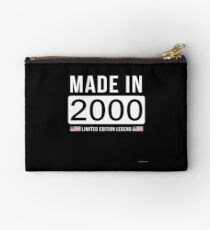 Made In 2000 Limited Edition Legend - Birthday Gift For D.O.B  2000 Born In  2000 Studio Pouch
