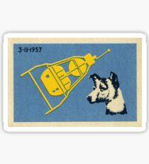 Sputnik 3 & Laika der Hund - Sowjetische Weltraumkunst Sticker