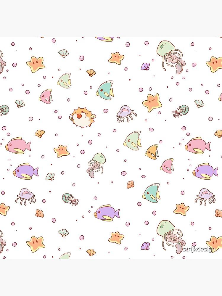 Cute Sea creatures pattern by strijkdesign