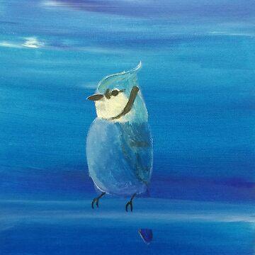 Blue Jay Painting by parakeetart