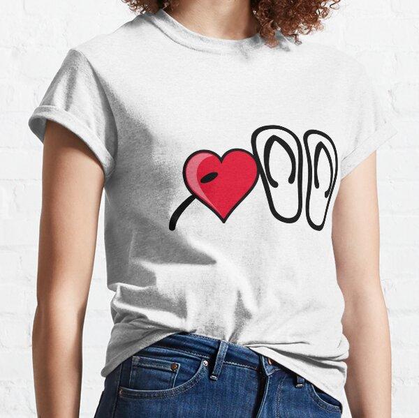 I heart I love flip flops sandals Classic T-Shirt