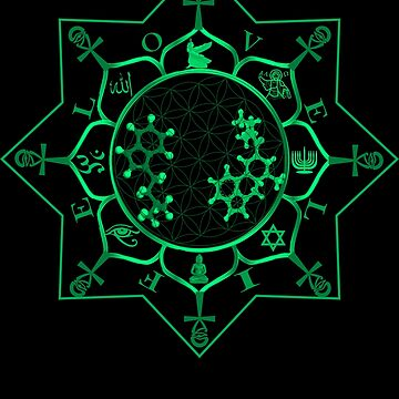 DMt Ayahuasca Sacred Geometry T-Shirt 3 by Rahimseven